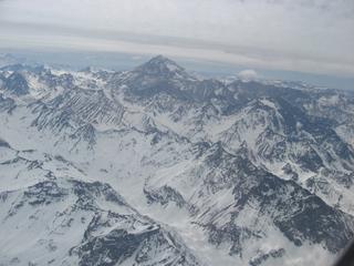 Aconcagua - Luftbild, Anden, Berg, Chile, Argentinien