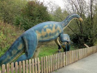 Dinosaurier in einem Dino-Park #5 - Ornithosuchus - Urzeit, Dinosaurier, Saurier, groß, ausgestorben, Urzeittier, Urzeittiere, gefährlich, Krallen, Echse, Evolution, Drache, Biologie, Dino, Fossil, Ornithosuchus, Fleischfresser