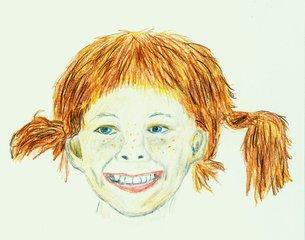 Berühmte Köpfe - Pippi Langstrumpf - Pippi, Astrid Lindgren, Kinderbuch