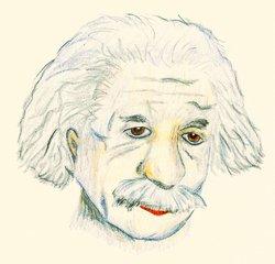 Berühmte Köpfe - Albert Einstein - Albert, Einstein, Physik, Physiker, Relativitätstheorie