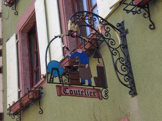 Coutelier - Frankreich, civilisation, Handwerker, Berufe, professions, coutelier, Messerschmied, panneau, Schild