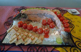Lachsplatte - Lachs, Fisch, angerichtet, Büffet, Fischplatte