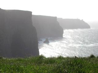 Irland - Cliffs of Moher - Irland, Küste, Klippen, Meer, hoch, steil, gefährlich, Cliffs of Moher, Farbperspektive