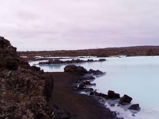 Blaue Lagune auf Island #2 - Lagune, Island, blau, blau-weiß, Geothermalgebiet, Lavafeld, See, Salzsee, Salzwassersee, Thermalbad, Kieselalgen