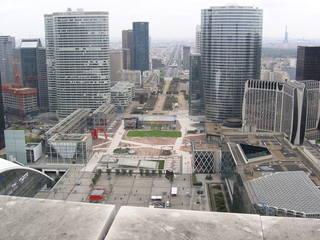 La Défense #1 - Frankreich, Paris, La Défense, Quartier, Viertel Hochhaus, tour, Büros, Grande Arche, Tour Eiffel, Eiffelturm