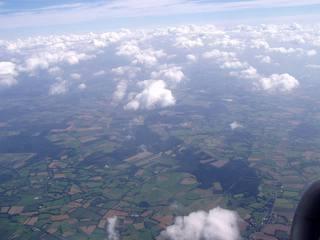 Blick über Norddeutschland - Blick, sehen, Aussicht, unten, Flugzeug, fliegen