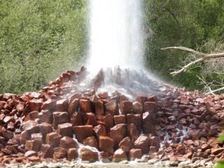 Kaltwassergeysir Andernach #5 - Kaltwassergeysir, Eifel, Vulkan, Geysir, Basalt, Gestein, Fontäne, Wassersäule, Eruption, hoch, ausbrechen, Druck, kalt, Wasser, Kohlensäure, Kohlenstoffdioxid, Gas, Löslichkeit, Chemie