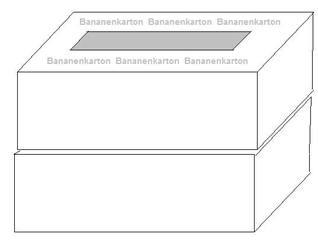 Bananenkartons übereinander - Bananenkartons, springen, Sport, spielen, Spiel, Kiste, Kisten, Karton, Hindernis, Sprung, Kartons, Mehrzahl, Plural, Quader, Oberfläche, Volumen, Schachtel, Schachteln, zwei