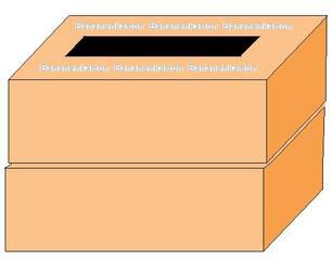 Bananenkartons übereinander - Bananenkartons, springen, Sport, spielen, Spiel, Kiste, Kisten, Karton, Hindernis, Sprung, Quader, Oberfläche, Volumen, Schachtel, Schachten, zwei