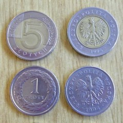 Zloty - Zloty, Münze, Münzen, Polen, Währung, Adler, Hoheitszeichen, Wappentier