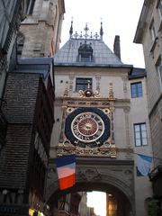 Rouen - Le gros horloge - Frankreich, Rouen, Gros Horloge, Große Uhr, Uhren, Uhrturm, astronomisch, Astronomische Uhr, Zeit, Renaissance, Zifferblatt, Wochentage, Mond, Sehenswürdigkeit, Torbogen