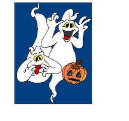 Gerda und Gernot Grusel - Sport, Puzzle, Halloween, gruseln, Geister, Gespenster, spuken, Spuk, geistern