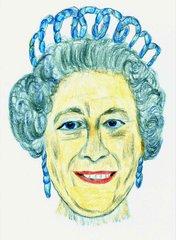 Berühmte Köpfe - Elisabeth II - Englang, United Kingdom, Oberhaupt, Königin, Thron