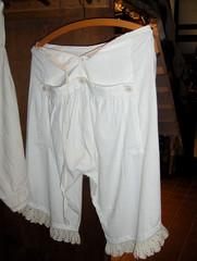 Unterhose - Unterhose, Beinkleid, Unterwäsche, Leinen, Baumwolle, Klappe, öffnen, Knöpfe, Toilette, Weißwäsche, Mode, Wäsche
