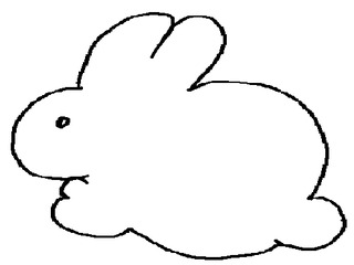Häschen Umrissbild - Hasee, Häschen, Kaninchen, Umriss, Zeichnung