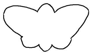 Schmetterling Umrissbild - Schmetterling, Umriss, Zeichnung