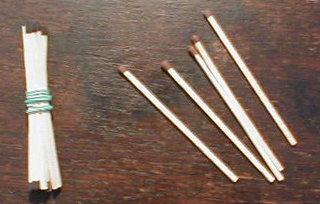 Bündelungen mit Streichhölzern  03 - Einer, Zehner, Bündel, Bündelung, Streichhölzer, zählen, Stellenwert, zehn, fünfzehn