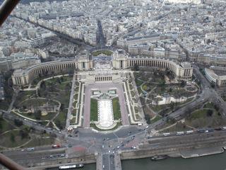 Palais de Chaillot - Frankreich, Paris, Palais, de Chaillot, Trocadéro, Neoklassizismus, Eiffelturm, Tour Eiffel
