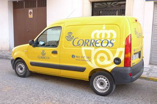 Spanisches Postauto - Post, Briefe, correos, Gelb, Spanien, Auto