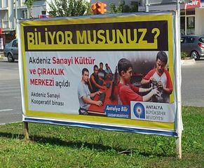 Werbeplakat - Werbung, Plakat, Weiterbildung, Türkçe biliyor musunuz