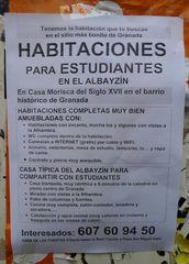 Information zu Studentenwohnungen in Spanien - Hinweisschild, habitación, habitaciones, estudiante, estudiantes