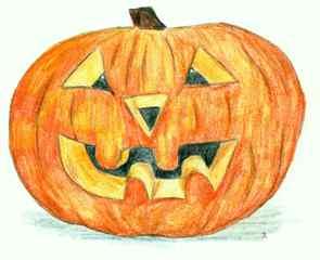 Kürbis #2 - Kürbis, Halloween, basteln, Laterne, Brauch