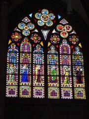 Oppenheimer Kirche #2 - Glaskunst, Kirchenfenster, Rosettfenster, bunt, Oppenheim, Kirche, Glasfenster, Glasscheiben, Bleiverglasung, Gotik, gotisch