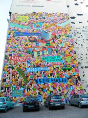 20 Jahre danach#1 - Leipzig, Demokratie, Einheit, Wand, Hauswand, Wende, friedliche Revolution, Wiedervereinigung, 1989, Geschichte, Kunst, Wandgemälde, Wandbild