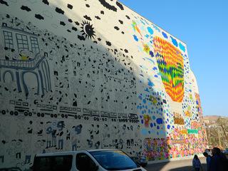 20 Jahre danach#2 - Leipzig, Demokratie, Einheit, Wand, Hauswand, Wende, friedliche Revolution, Wiedervereinigung, 1989, Geschichte, Kunst, Wandgemälde, Wandbild