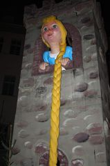 Rapunzel - Turm, Rapunzel, Haar, Zopf, Märchen, Märchenfiguren, Grimm, Brüder Grimm, Gera, Weihnachtsmarkt, Märchenmarkt, Markt