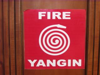 Wandhydrant - Wandhydrant, Wasserentnahmestelle, Brandbekämpfung, Feuer, Quader, Zylinder, Schild