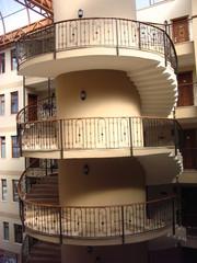 Wendeltreppe - Treppe, Kurve, Stufe, Treppenhaus, Stiege, Aufgang, Abgang, Höhenunterschied, Treppenabsätze, Wendeltreppe