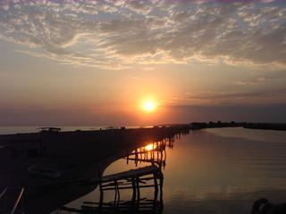 Sonnenuntergang#1 - Sonnenuntergang, Meer, Abend, Meditation, Horizont, Himmelserscheinung, Sonne, Abendrot
