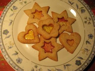 Glaskekse - Keks, Kekse, Weihnachtsgebäck, Weihnachten, Weihnachtszeit, backen, süß, lecker, braun, Nahrungsmittel, sechs
