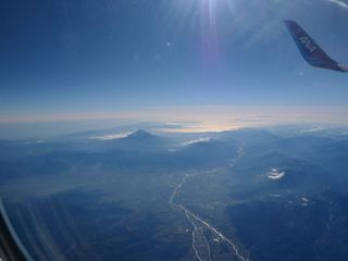 Vulkankegel - Vulkan, Vulkankegel, Japan, Berg, Honshu, Gipfel, Dreitausender, Luftaufnahme, Luftbild, Vogelperpektive