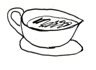 Soßenkännchen - Sauciere, Soßenkännchen, Geschirr, Soßenschüssel, Tafelgeschirr, Essservice, Gefäß, servieren, Soße, Wörter mit Doppelkonsonanten, Wörter mit ß