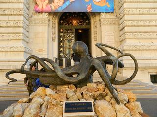 Der Krake - Statue, Bronze, Krake, Meerestier, Museum, Monaco