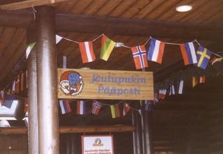 finnisches Schild 5 - Weihnachten, Post, Finnisch, Schild, Flaggen, Flagge, Fahne, Fahnen