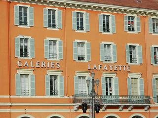 Galeries Lafayette - Frankreich, civilisation, magasin, Geschäft, Einkaufszentrum, Kaufhaus, einkaufen, Galeries Lafayette, Nice, Nizza, Fassade, Hausfassade