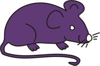 Maus lila - Maus, Nagetier, Anlaut M, fröhlich, Illustration, Farbe, lila
