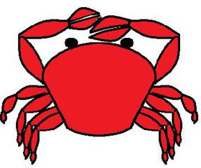 Krebs - Krebs, Krabbe, Krustentier, Strand, Meer, Wasser, Gliederfüßer, Wirbellose, Meerestier, rot, Anlaut k