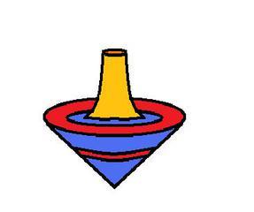 Kreisel - Kreisel, Holzkreisel, Tischkreisel, Spiel, Spielzeug, Kinderspielzeug, Kindheit, früher, Feinmotorik, Kegel, rotieren, spielen, drehen, Anlaut kr, Körper, Mathematik