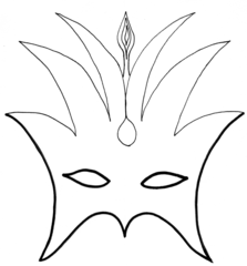 Faschingsmaske - Maske, Faschingsmaske, Fasching, Karnevalsmaske, Karneval, verbergen, verstecken, verkleiden, verbergen, fantasievoll