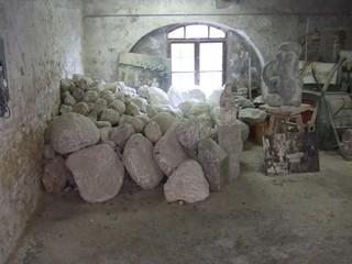 Alabaster - Alabaster, Volterra, Kunsthandwerk, Werkstatt, Mineralien, Gestein, Handwerk, Toskana, Italien
