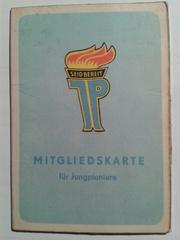 Ausweis der Jungpioniere der DDR - Ausweis, Pionierausweis, Mitgliedskarte, Mitgliedschaft, Jungpioniere, Pioniere, Massenorganisation, Jugendorganisation, Jugendverband, Jugendkultur, politisch, Freie Deutsche Jugend, FDJ, DDR, Deutsche Demokratische Republik
