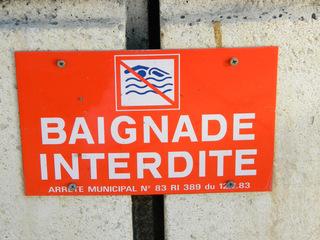 Baignade interdite - Frankreich, französisch, civilisation, panneau, Schild, Verbotsschild, Verbot, baignade, Baden