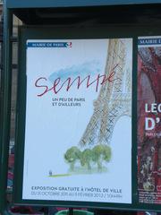 exposition Sempé - Frankreich, civilisation, Paris, exposition, Ausstellung, mairie, Rathaus, Sempé, Zeichner, dessinateur, Plakat, Ankündigung
