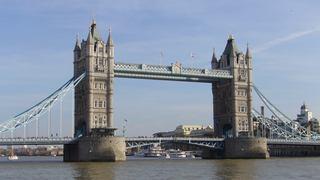 Tower Bridge - London, England, Tower Bridge, Brücke, Fluss, Themse, Straßenbrücke, klappen, Neugotik