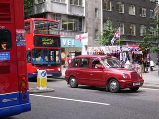 A London Taxi - Taxi, London, Auto, Straße, Verkehr, modern London taxi
