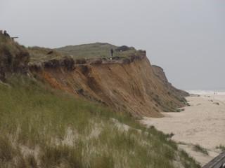 Kliff2 - Kliff, Abbruchkante, Kliffkante, Rote Kliff, Kampen, Sylt, Nordsee, Küstenform, Sturmflut, Erosion, Strand, Sand, Strandhafer, Strandbepflanzung